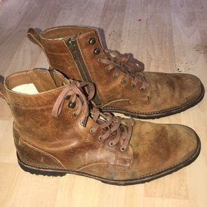 Men's size zip Timberland boots size 8